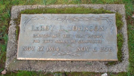 JOHNSON, LEROY L - Marion County, Oregon | LEROY L JOHNSON - Oregon Gravestone Photos