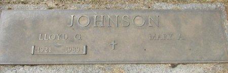 JOHNSON, LLOYD G - Marion County, Oregon | LLOYD G JOHNSON - Oregon Gravestone Photos