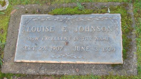 JOHNSON, LOUISE E - Marion County, Oregon | LOUISE E JOHNSON - Oregon Gravestone Photos