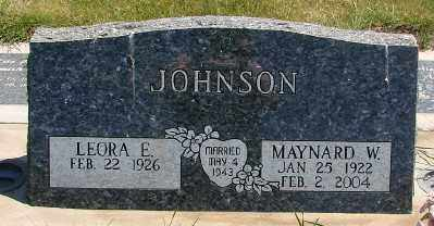 JOHNSON, LEORA E - Marion County, Oregon | LEORA E JOHNSON - Oregon Gravestone Photos