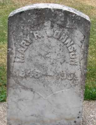 JOHNSON, MARY R - Marion County, Oregon | MARY R JOHNSON - Oregon Gravestone Photos