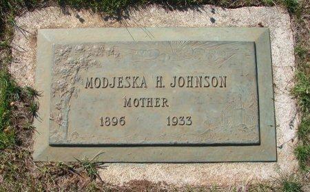 JOHNSON, MODJESKA H - Marion County, Oregon | MODJESKA H JOHNSON - Oregon Gravestone Photos