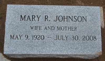 JOHNSON, MARY R - Marion County, Oregon | MARY R JOHNSON - Oregon Gravestone Photos