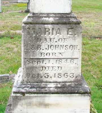 JOHNSON, MARIA E - Marion County, Oregon | MARIA E JOHNSON - Oregon Gravestone Photos