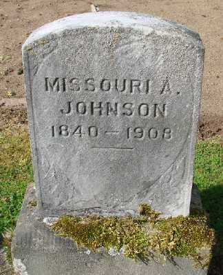 JOHNSON, MISSOURI A - Marion County, Oregon   MISSOURI A JOHNSON - Oregon Gravestone Photos