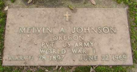 JOHNSON, MELVIN A - Marion County, Oregon | MELVIN A JOHNSON - Oregon Gravestone Photos