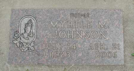 JOHNSON, MYRTLE M - Marion County, Oregon | MYRTLE M JOHNSON - Oregon Gravestone Photos