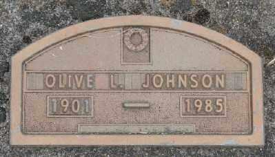 JOHNSON, OLIVE L - Marion County, Oregon | OLIVE L JOHNSON - Oregon Gravestone Photos