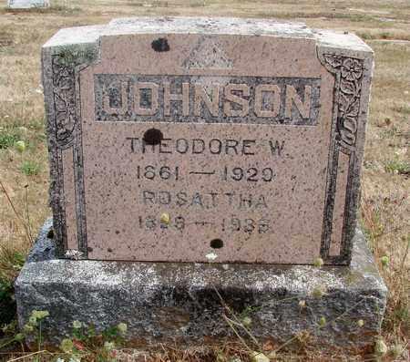 JOHNSON, ROSATTHA - Marion County, Oregon | ROSATTHA JOHNSON - Oregon Gravestone Photos