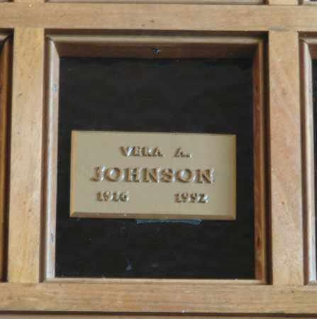 JOHNSON, VERA A - Marion County, Oregon | VERA A JOHNSON - Oregon Gravestone Photos