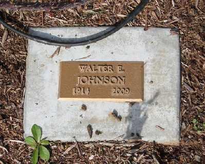 JOHNSON, WALTER E - Marion County, Oregon | WALTER E JOHNSON - Oregon Gravestone Photos