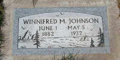 JOHNSON, WINNIFRED M - Marion County, Oregon | WINNIFRED M JOHNSON - Oregon Gravestone Photos