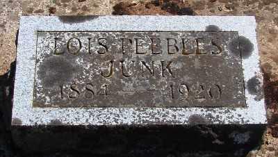 PEEBLES JUNK, LOIS LUCILE - Marion County, Oregon   LOIS LUCILE PEEBLES JUNK - Oregon Gravestone Photos