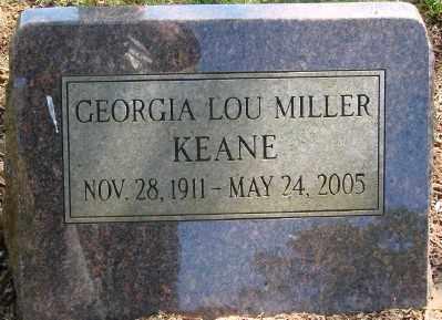 MILLER KEANE, GEORGIA LOU - Marion County, Oregon | GEORGIA LOU MILLER KEANE - Oregon Gravestone Photos
