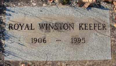 KEEFER, ROYAL WINSTON - Marion County, Oregon   ROYAL WINSTON KEEFER - Oregon Gravestone Photos