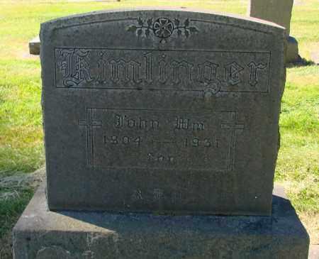 KIMLINGER, JOHN WILLIAM - Marion County, Oregon   JOHN WILLIAM KIMLINGER - Oregon Gravestone Photos