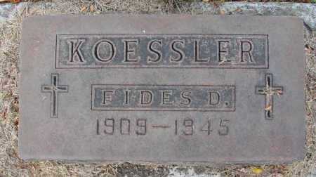 KOESSLER, FIDES D - Marion County, Oregon | FIDES D KOESSLER - Oregon Gravestone Photos