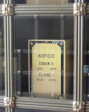 KOFOID, ELAINE E - Marion County, Oregon | ELAINE E KOFOID - Oregon Gravestone Photos