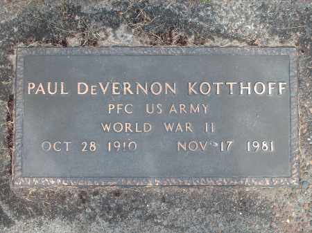 KOTTHOFF (WWII), PAUL DEVERNON - Marion County, Oregon | PAUL DEVERNON KOTTHOFF (WWII) - Oregon Gravestone Photos