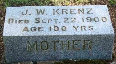 KRENZ, JOHANNA WILHELMINA - Marion County, Oregon | JOHANNA WILHELMINA KRENZ - Oregon Gravestone Photos