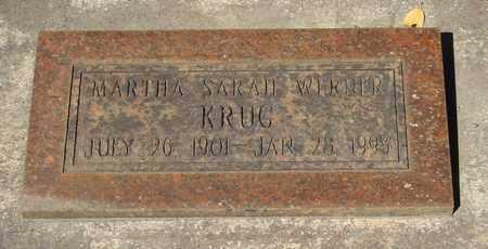 KRUG, MARTHA SARAH - Marion County, Oregon | MARTHA SARAH KRUG - Oregon Gravestone Photos