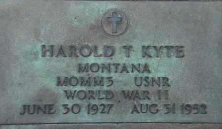 KYTE (WWII), HAROLD T - Marion County, Oregon | HAROLD T KYTE (WWII) - Oregon Gravestone Photos