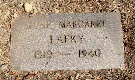 LAFKY, JUNE MARGARET - Marion County, Oregon | JUNE MARGARET LAFKY - Oregon Gravestone Photos