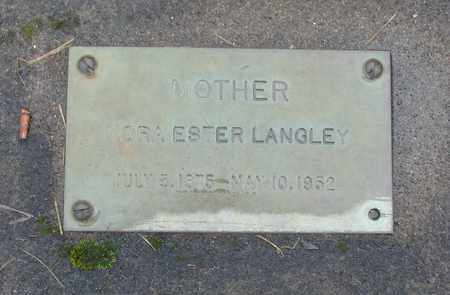 LANGLEY, NORA ESTHER - Marion County, Oregon | NORA ESTHER LANGLEY - Oregon Gravestone Photos