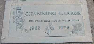 LARGE, CHANNING LOUISE - Marion County, Oregon   CHANNING LOUISE LARGE - Oregon Gravestone Photos