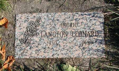 LEONARD, INGRID - Marion County, Oregon | INGRID LEONARD - Oregon Gravestone Photos