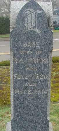 LEONARD, JANE - Marion County, Oregon | JANE LEONARD - Oregon Gravestone Photos