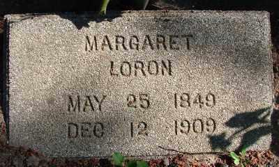 LORON, MARGARET - Marion County, Oregon   MARGARET LORON - Oregon Gravestone Photos