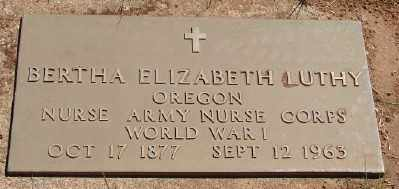 LUTHY (WWI), BERTHA ELIZABETH - Marion County, Oregon | BERTHA ELIZABETH LUTHY (WWI) - Oregon Gravestone Photos