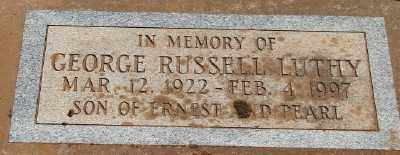 LUTHY, GEORGE RUSSELL - Marion County, Oregon | GEORGE RUSSELL LUTHY - Oregon Gravestone Photos