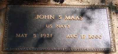MAAS, JOHN S - Marion County, Oregon | JOHN S MAAS - Oregon Gravestone Photos