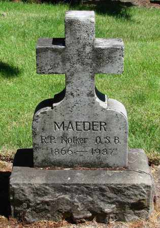 MAEDER, NOTKER - Marion County, Oregon | NOTKER MAEDER - Oregon Gravestone Photos