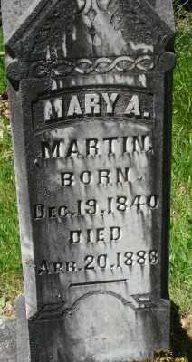 MARTIN, MARY A - Marion County, Oregon   MARY A MARTIN - Oregon Gravestone Photos