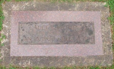 MATHEY, ALICE RUTH - Marion County, Oregon | ALICE RUTH MATHEY - Oregon Gravestone Photos