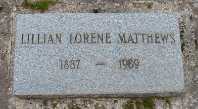 MATTHEWS, LILLIAN LORENE - Marion County, Oregon | LILLIAN LORENE MATTHEWS - Oregon Gravestone Photos