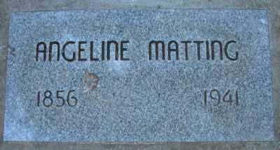 MATTING, ANGELINE - Marion County, Oregon   ANGELINE MATTING - Oregon Gravestone Photos