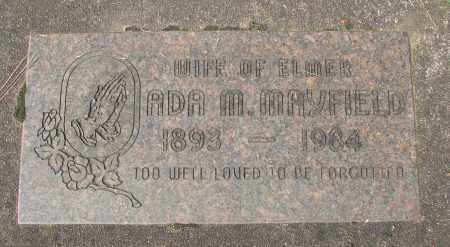 MAYFIELD, ADA MATHILDA - Marion County, Oregon | ADA MATHILDA MAYFIELD - Oregon Gravestone Photos