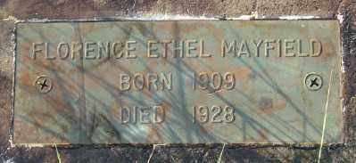 MAYFIELD, FLORENCE ETHEL - Marion County, Oregon   FLORENCE ETHEL MAYFIELD - Oregon Gravestone Photos