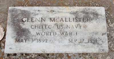 MCALLISTER (WWI), GLENN - Marion County, Oregon   GLENN MCALLISTER (WWI) - Oregon Gravestone Photos