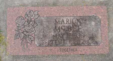 MCBEE, MARION F - Marion County, Oregon | MARION F MCBEE - Oregon Gravestone Photos