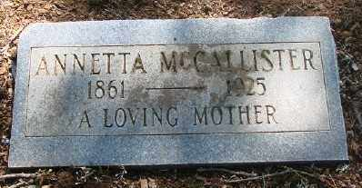 MCCALLISTER, ANNETTA - Marion County, Oregon | ANNETTA MCCALLISTER - Oregon Gravestone Photos