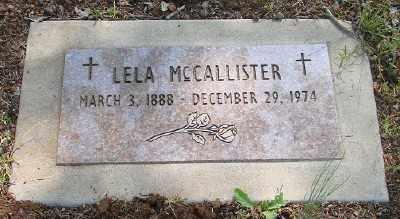 MCCALLISTER, LELA VERA - Marion County, Oregon | LELA VERA MCCALLISTER - Oregon Gravestone Photos