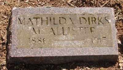 DIRKS MCCALLISTER, MATHILDA - Marion County, Oregon | MATHILDA DIRKS MCCALLISTER - Oregon Gravestone Photos