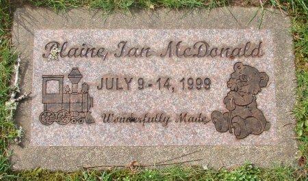 MCDONALD, BLAINE IAN - Marion County, Oregon | BLAINE IAN MCDONALD - Oregon Gravestone Photos
