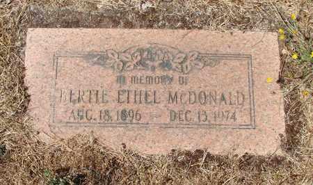 MCDONALD, BERTIE ETHEL - Marion County, Oregon | BERTIE ETHEL MCDONALD - Oregon Gravestone Photos
