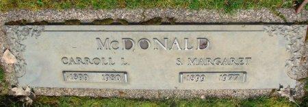 MCDONALD, CARROLL L - Marion County, Oregon   CARROLL L MCDONALD - Oregon Gravestone Photos